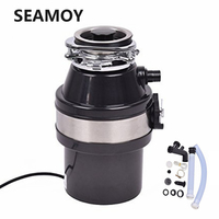 Food Waste Disposer With Air Switch 900ml Extra Capacity High sensitivity Protection System For Kitchen