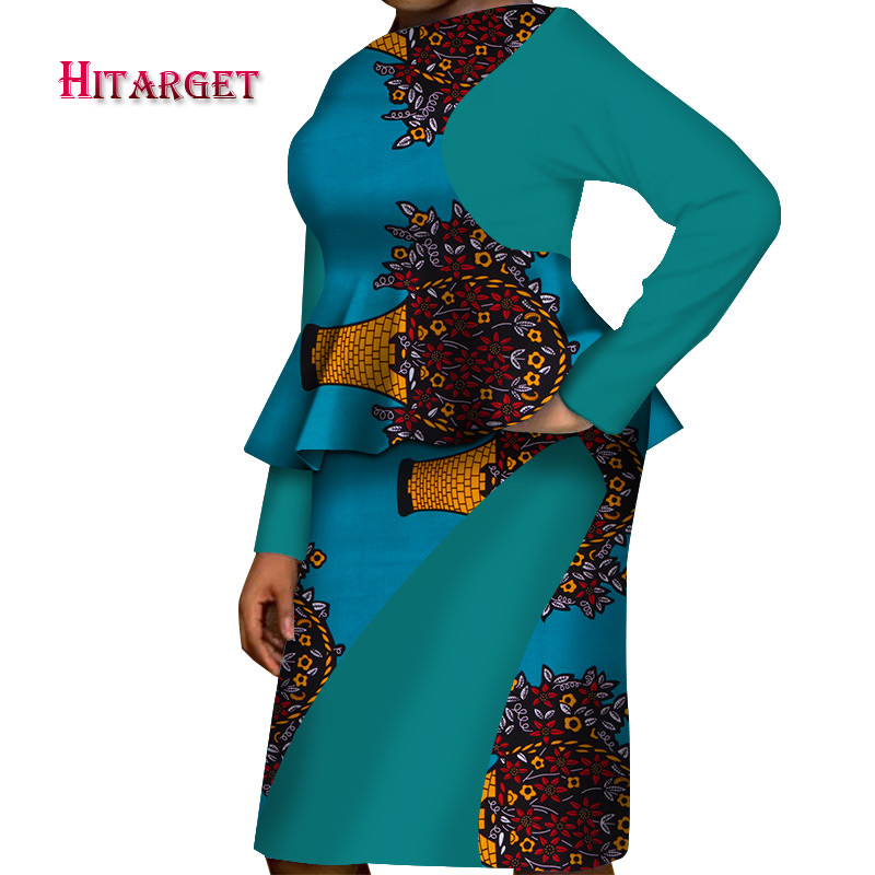 african dresses for woman african print dresses 2 pieces set top skirt for elegant lady wax print cotton african clothes WY3624 in Africa Clothing from Novelty Special Use