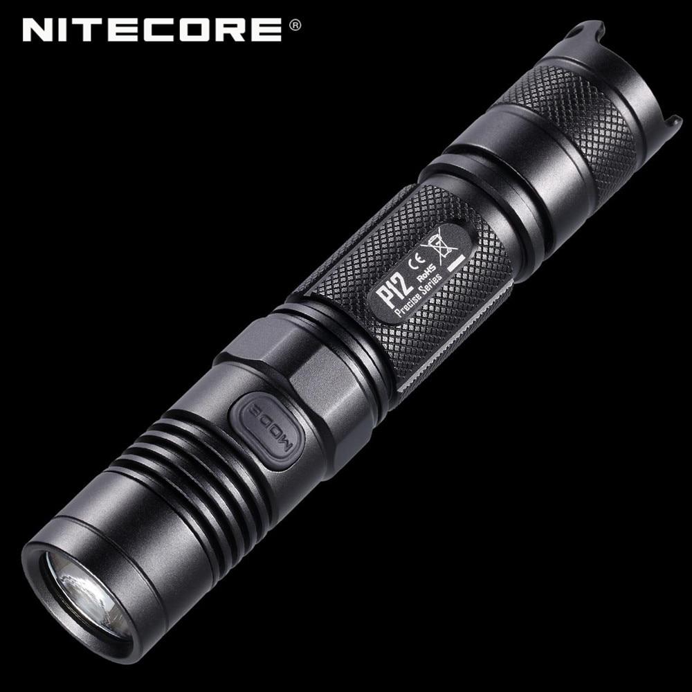 2015 Version Precise Series Nitecore P12 Portable Tactical Flashlight 1000 Lumens by CREE XM L2 U2