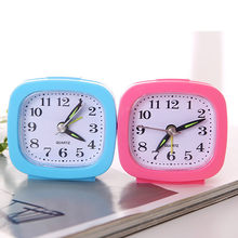 Square Small Bed Compact Travel Quartz Beep Alarm Clock Cute Portable Charminer Portable Silent Double Bell Alarm Clock #80(China)