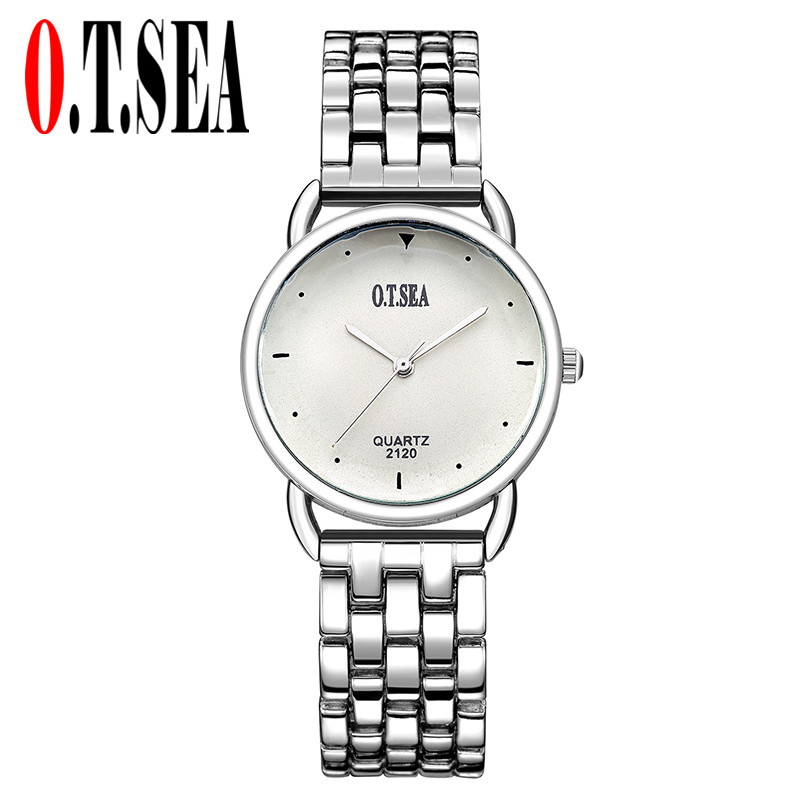 Luxury O.T.SEA Brand Stainless Steel Bracelet Watches Women Ladies Dress Quartz Wristwatches Relogio Feminino 2120 baosaili brand luxury crystal gold watches women ladies quartz wristwatches bracelet relogio feminino relojes mujer bs001