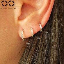 Hoop Earrings 925 Sterling Silver For Women Minimalist Round Circle 8mm,10mm,12mm,14mm,16mm,18mm,20mm Loop Z4