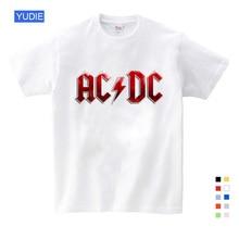 цена на Boy&Girl Print AC DC Band Rock T-shirt O-Neck Short T Shirt Acdc Graphic Heavy Metal Tops Tee Kids Baby T Shirt Fashion YUDIE