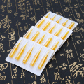 100pcs Yellow Tattoo Tips Gold Shark Disposable Tattoo Tip Round Flat Magnum Tips Nozzle Supply