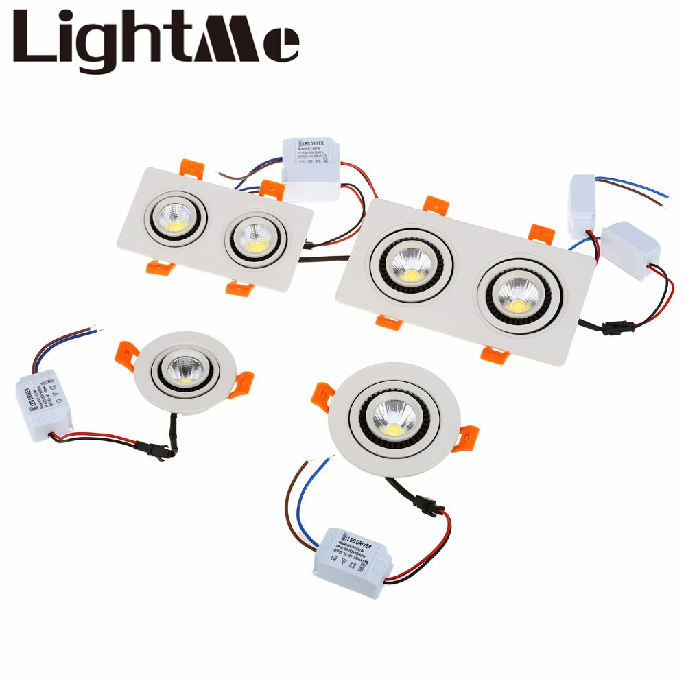 2016 New 10W LED Rotating Double Heads COB Gimbal Bedroom Spotlight 360 Degree Rotary Re ...