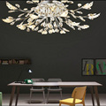 T European Style Crystal Leaves Ceiling Light Fashion Artistical Simple Lamps For Living Room Bedroom Home Dia90cm DHL FREE