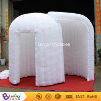 All white 3X2X2.3M LED lighiting inflatable photo booth type lighting igloo inflatable LED tent for party event 2018 hot sale