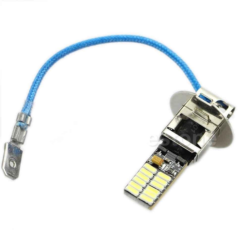 6500 K HID ксенон белый 24-SMD-4014 H3 светодиодный лампы для Противотуманные фары или фары дальнего света