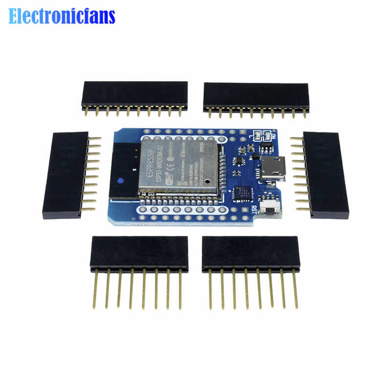 For Wemos MINI D1 ESP32 ESP-32S Wireless WiFi + Bluetooth For Wemos D1 Mini Esp8266 CP2102 Module With Pins