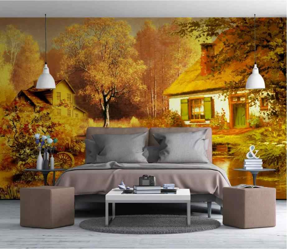 Custom Modern Aesthetic Dream Wallpaper Landscape Living Room