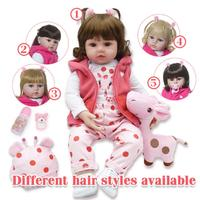 2019 HOT LoL Doll Set 47cm Soft Silicone Reborn Toddler Baby Dolls Com Corpo De Silicone Menina Christmas Surprice Gifts
