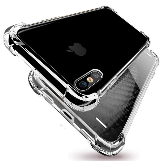 half off dd8ef 97290 US $1.7 |Fundas For iPhone X Case Ultra Thin Transparent Cover Soft TPU  Coque Mobile Phone Bag Flexible Para For Apple iPhone 10 Silicone-in Fitted  ...