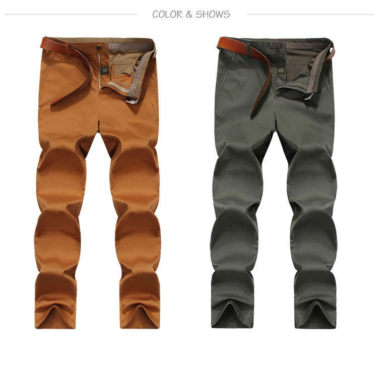 4 Colors 30-42 100% Cotton Fashion Joggers Men Casual Long Pants Men\'s Clothing Black Khaki Pants Trousers Autumn Summer Brand (12)