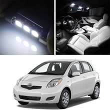 Canbus LED Lamp Interior Map Dome Trunk Plate Light Bulbs For  Toyota Yaris 2007-2011 9pcs error free xenon white premium led full reading light kit for 2007 2011 toyota yaris installation tool with 5630 smd