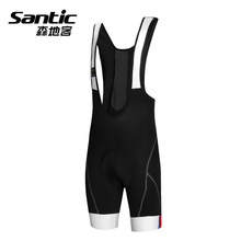 Santic Men Cycling Bib Shorts Jersey 4D Padded Gel Bicycle Clothing Outdoor Breathable Quick Dry MTB Road Bike Sports Pants Wear