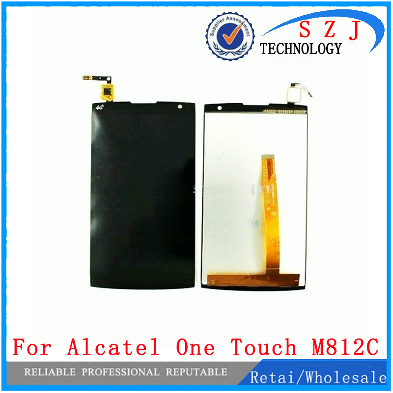 New Quality LCD Display+Touch screen digitizer lens sensor panel for Alcatel One Touch M812 M812C Orange Nura Free Shipping brand new lcd for alcatel one touch star d 6010d 6010 lcd display touch screen digitizer assembly free shipping