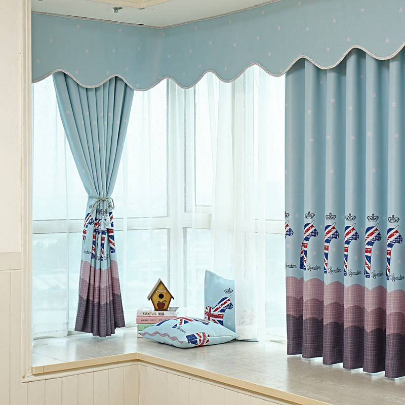 2 PC Modern Short Curtains For The Bedroom Window Curtains For Living Room  Bay Window Curtains For Bedroom Kids  In Curtains From Home U0026 Garden On ...