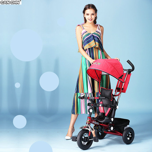 CANCHN protable plegable andador triciclo niño cochecito de bebé bicicleta niños