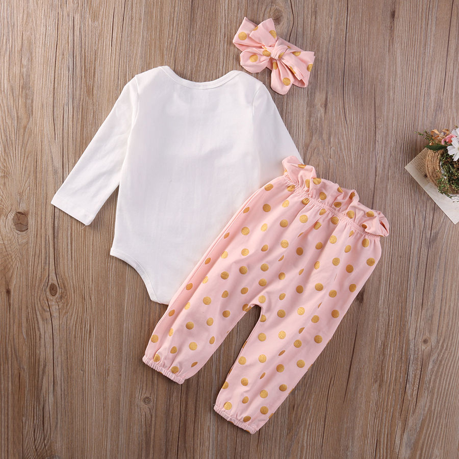 ee15798136311 Cute Baby Girls Clothing Sets Tops Playsuit Pants Headband Outfit Set 3Pcs  Newborn Infant Baby Girls Clothes Set-in Clothing Sets from Mother & Kids  on ...