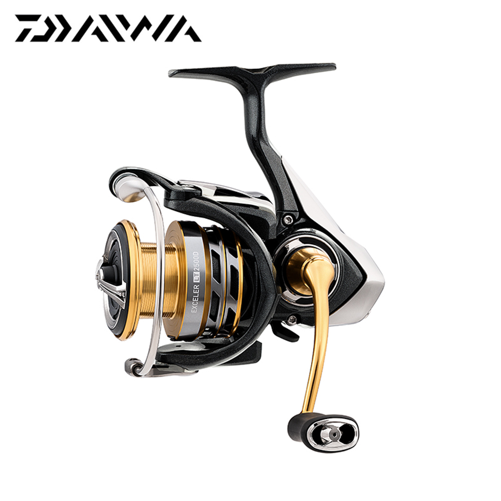2018 New Daiwa EXCELER LT Spinning Reel 5+1 Ball Bearings High Gear Ratio 1000-6000 Series Carbon Light Tough Fishing Reel2018 New Daiwa EXCELER LT Spinning Reel 5+1 Ball Bearings High Gear Ratio 1000-6000 Series Carbon Light Tough Fishing Reel