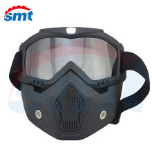 Black Men's Women's Windproof Anti-fog Motorcycle Motocross Racing Goggles Helmet Sunglasses Glasses Face Mask Protective Gear
