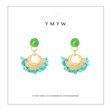 YMYW New Fashion Brand Za Natural Stone Handmade Dangle Earrings Vintage Ethnic Oorbellen for Women Party Jewelry Gift 2019