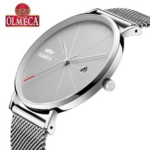 Top Brand OLMECA Watch Fashion Wrist Watch Water Resistant Relogio Masculino Complete Calendar Men's Watches Drop-Shipping Alloy все цены