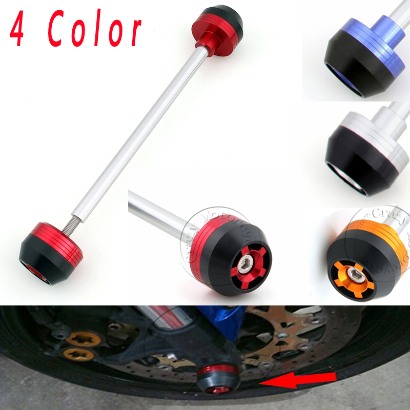 ФОТО For Triumph Sepped Triple 2007 2008 2009 Front Axle Fork Crash Sliders Cap Motorcycle Falling Protection