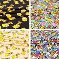 الكرتون بارت قماش الأقمشة المرقعة القطن المطبوع النسيج لل نسيج الاطفال المنسوجات المنزلية ل الحقيبة/حقيبة الخياطة القماش tecidos