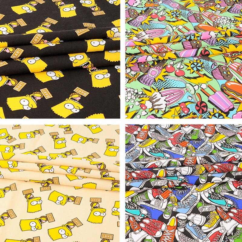 Tejidos De Tela para patchwork de dibujos animados bart impresa tela de algodón