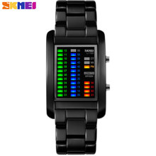 SKMEI 2017 New popular Brand Men luxury creative Watches digital LED display 50M waterproof Wristwatches quality alloy band