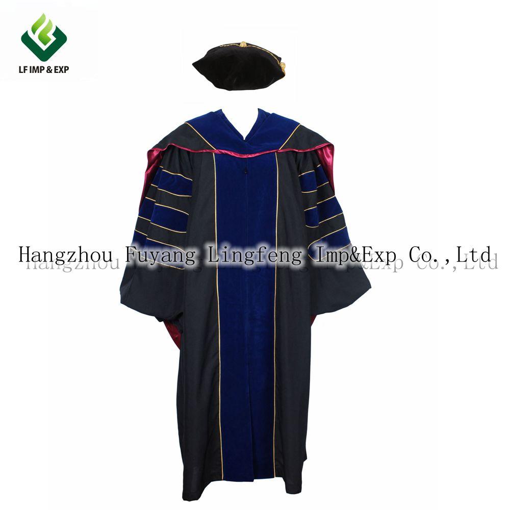 Custom School Girl Uniforms Duluxe Doctoral Graduation Gown Tam ...