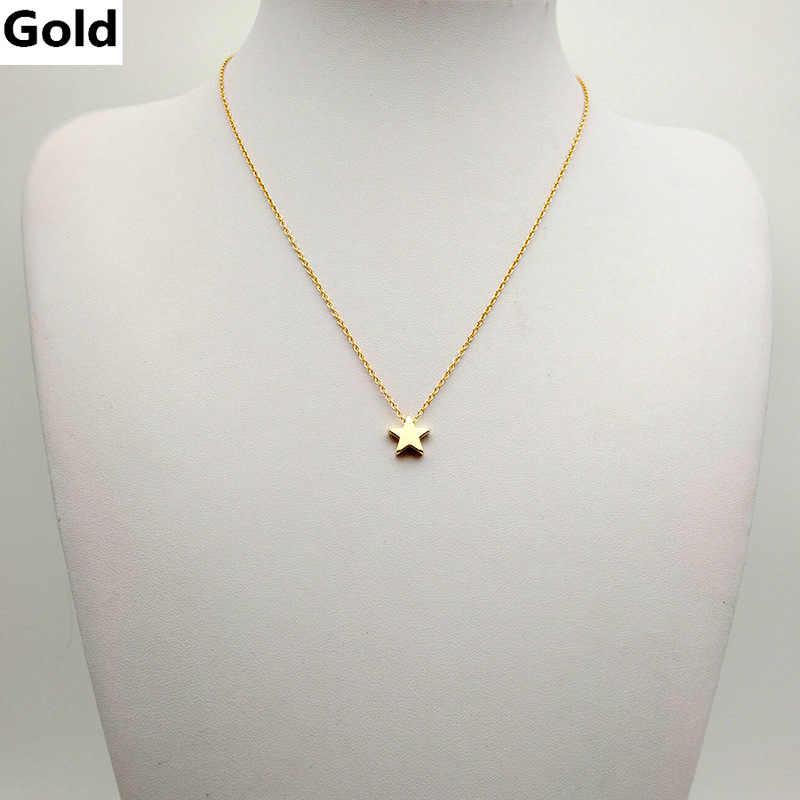 جديد صغيرة الذهب اللون ستار قلادة للنساء رابط سلسلة المختنق قلائد حزب اكسسوارات مجوهرات
