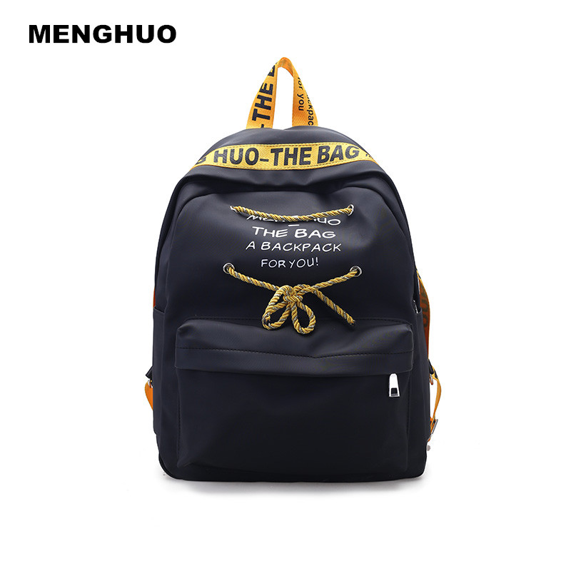 MENGHUO Fashion women Backpack Girls School Laptop Shoulder Bags Female Travel Backpack Casual Lady Mochila Bag Daypacks menghuo casual backpacks embroidery girls school bag female backpack school shoulder bags teenage girls college student bag