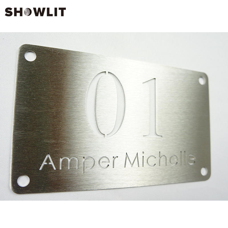 House Door Number With Home Name Custom Made Stainless Steel Home Plate