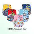New Baby Washable Cloth Diapers Cover Cartoon  Adjustable modern cloth nappies Infant Reusable AI2 cloth diapers