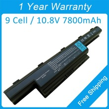 New 9 cell 7800mah laptop battery AS10D3E AS10D61 for Packard Bell EasyNote TM85 TM83 TM86 TM87 TM89 NS85 TM94 TM97 TM98