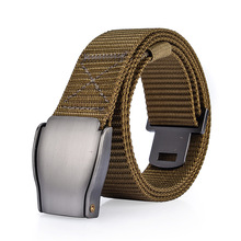 Fashion Youth Men and Women Automatic Buckle Canvas Belt Nylon Belt Outdoor Thickening Metal Buckle G Belt  Luxury Belt все цены