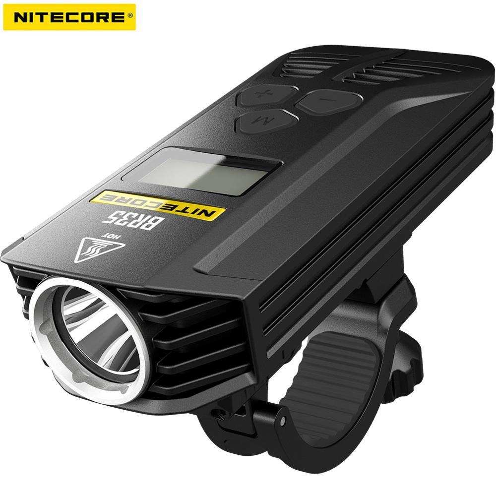 Nitecore BR35 1800 Lumens 2xCREE XM-L2 U2 Built-In 6800mAh Battery Pack Dual Distance Beam Rechargeable Bike Light Free Shipping