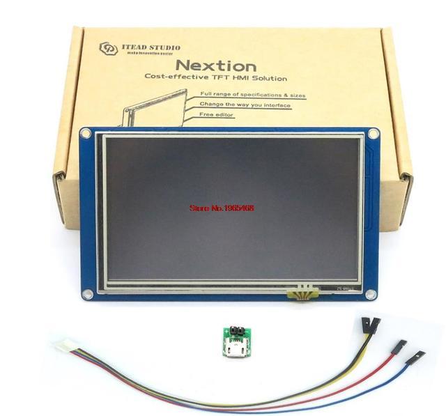 "5.0 ""Nextion HMI Intelligent Smart USART UART Serial Touch TFT LCD Panel Display Module For Raspberry Pi 2 A + B + ARD Kits"