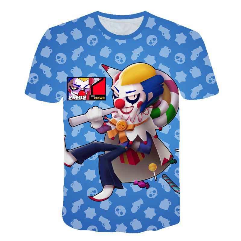 Летняя Новинка 2019 года, футболка с 3D-принтом в стиле «бравле», модные топы с короткими рукавами и рисунком для мальчиков и девочек, shir 100-160 см