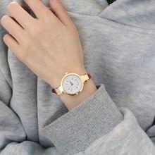 цены 1 pcs Luxury Rose Gold Crystal Diamond Thin Leather Strap Quartz Wedding dress Watch Wristwatches for Women Ladies Girls