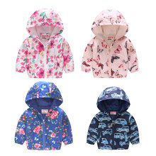 Autumn children jackets New 2Y-7Y cartoon print baby boys & girls outerwear coats casual hooded for