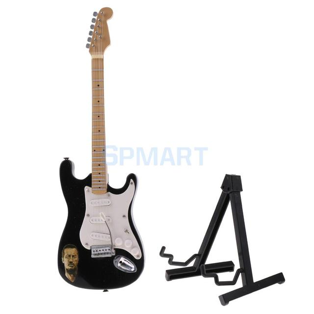 1/6 Scale Wooden Electric Guitar Model Dolls House Miniature Musical Instrument for Action Figures Hot Toys Accessory Decor
