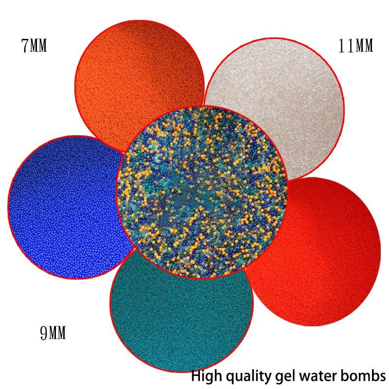 Pb Электрический водяной пистолет пуля высокого качества гель материал корпуса кристалла 7 мм 9 мм 11 мм 25 кг гель мяч пистолет тактический отл