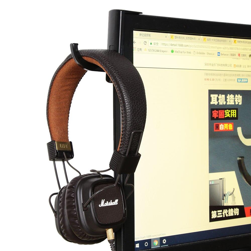 1pc support d'écouteur casque casque crochet de suspension avec autocollant de bande pour bureau PC affichage moniteur casque accessoires |