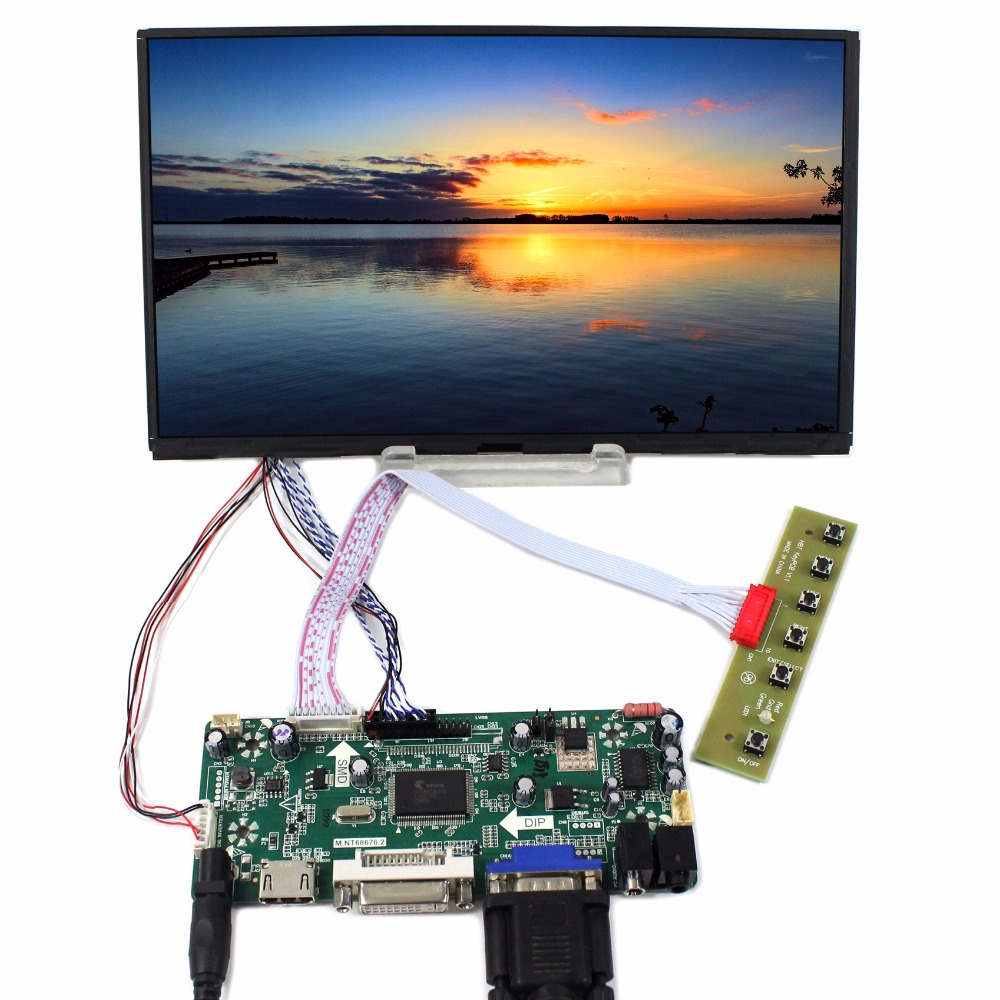 HDMI DVI VGA lcd Controller board+10.1inch B101XAN01 1366*768 IPS Lcd panel vga 2av audio reversing lcd driver board 10 1inch n101bge 1366 768 lcd panel