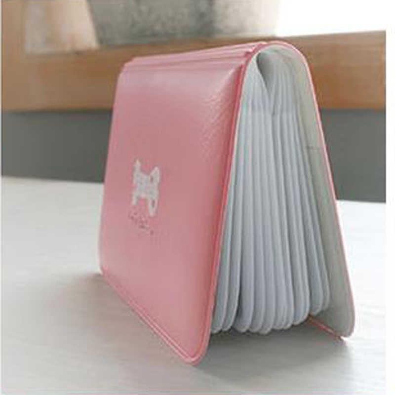 Leather Pu mini Cute Cartoon 12 Kcal Bus Business Visit Card Holder Cover Cn the passport case for office organizer supplies
