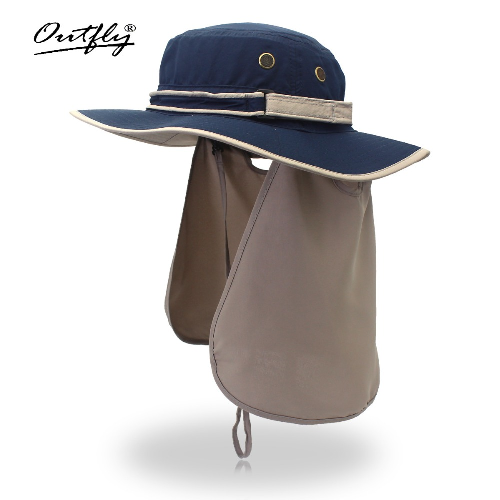 Bred Brim Men Women Bucket Hat With String Vanntett Utendørs Fiske Jakt Hat Fisherman Bone Caps Fjellklatring Solhatt