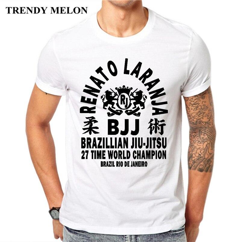 4fe74044f5 Trendy Melon Novelty T-shirt Men Japanese Jiu Jitsu Funny Tee Shirts White  Cotton Short Sleeve Tops Hipster Clothing JJ04